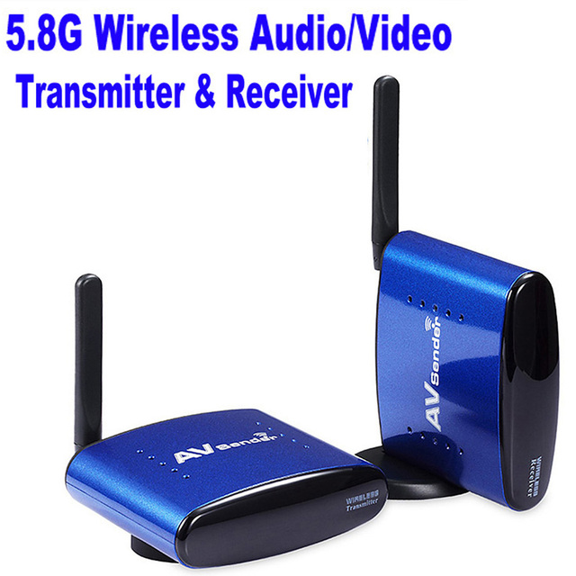 Quality 5.8G 5.8GHz  STB Sharing Device Video Equipments Wireless AV Sender TV Transmitter Receiver Audio Video Transmission
