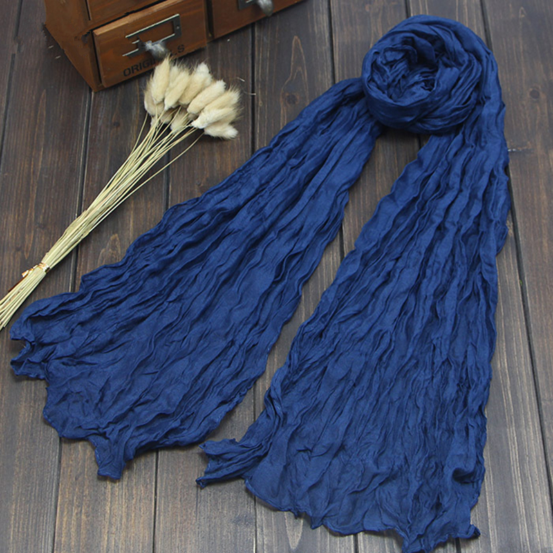 New Women Fashion Twist   Scarf   Shawl   Wrap   Printe Solid Candy Color Shawls Ladies Headband Fold   Scarves   Summer Sunscreen 2019