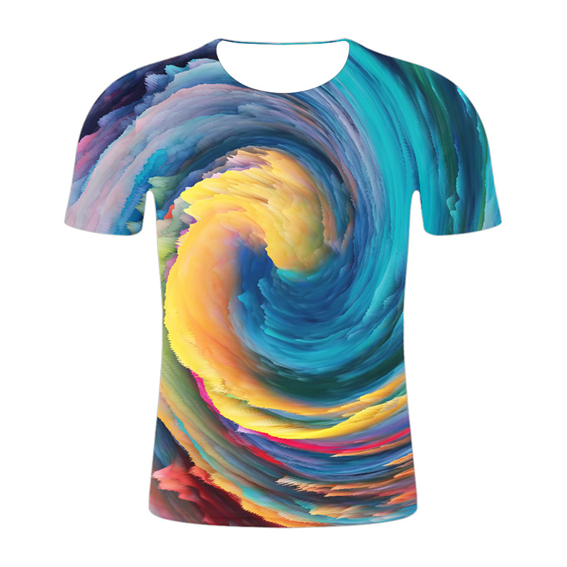 2019 New Summer time Prime T Shirt Males multicolored Tshirts 3d T-shirt Humorous T Shirts Hip Hop Tshirt Cool harajuku Mens Clothes 4XL T-Shirts, Low-cost T-Shirts, 2019 New Summer...