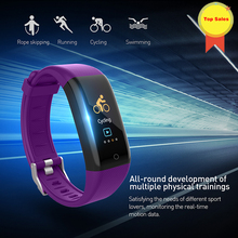 2019 New Men Smart Band Fitness Tracker Heart Rate Blood Pressure smart Sport Bracelet Watch0.96 lcd color touch screen