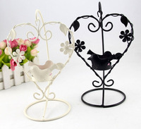 Iron Heart Birds Candle Stick Candleholder TeaLight Holder Wedding Home Decoration Design 8182