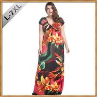 Ice Silk V neck Elastic Waist Plus Size 7XL Dress Women Big Size 6XL Beach Casual Dress Huge Size 6XL Floral Long Maxi Dresses