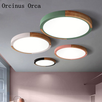Nordic modern simple LED color ceiling lamp living room bedroom post modern creativity candy color circular ceiling lamp