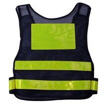 reflective safety vest security high visibility construction work traffic bike reflective safety clothing fabric uniform vest