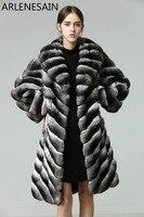 Arlenesain на заказ Настоящий мех шиншиллы 2018 новейшая мода горячая Распродажа Женское пальто