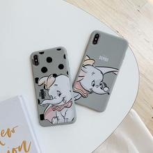IMIDO New Dumbo TPU Soft Silicone Case For iphone 6/7/8/X /Xs/ Xsmax/Xr Cute Simple Cartoon Anti-fall Fashion Phone