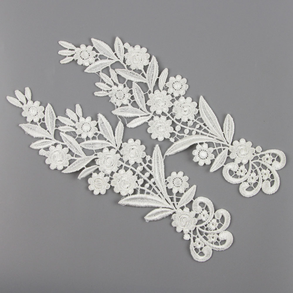 Aliexpress Buy 1 Pair Off White Polyester Lace Trim Lace