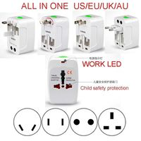 10pcs ALL-IN-ONE USA UK US EU AU Travel Power Voltage Adaptor Converter Plug