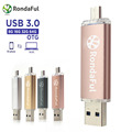 Rondaful USB 3.0 PenDrive Cell Phone Mobile Phone  8GB/16/32/64GB USB Flash External Storage Phone OTG USB Flash Drive Pen drive