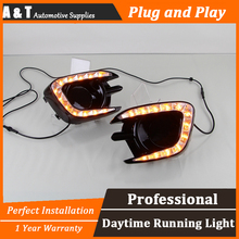 car styling For Mitsubishi Pajero 2013 2015 LED DRL For Pajero led fog lamps daytime running