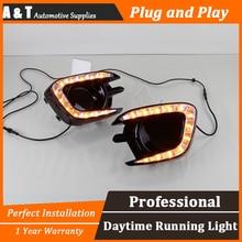 car styling For Mitsubishi Pajero 2013-2015 LED DRL For Pajero led fog lamps daytime running light High brightness guide LED DRL