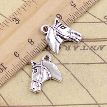 10pcs/lot Charms horse steed head 20x16mm Tibetan Silver Pendants Crafts Making Findings Handmade Antique Jewelry DIY Necklace(China)