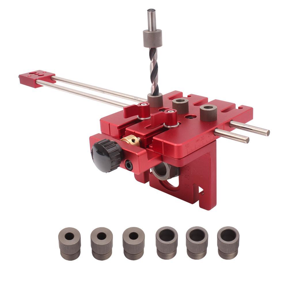 3 en 1 menuiserie trou perceuse perforateur positionneur Guide localisateur gabarit menuiserie système Kit alliage d'aluminium bois travail bricolage outil - 5