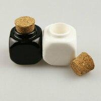 Nail Art Manicure Tool Mini 10ml Ceramic Glass Dappen Dish Bottle Acrylic Liquid Glitter Powder Bowl