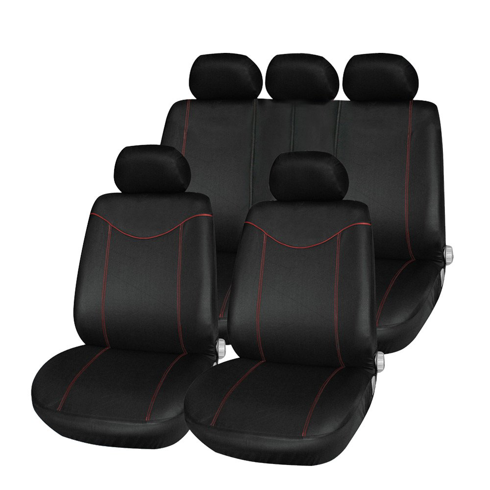 newest universal car seat cover set 11pcs seat covers front seat back seat headrest cover mesh. Black Bedroom Furniture Sets. Home Design Ideas