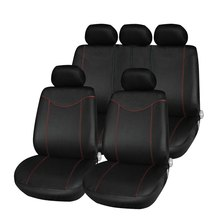 Newest Universal Car Seat Cover Set 11Pcs Seat Covers Front Seat Back Seat Headrest Cover Mesh Black and Gray 5 Styles Optional