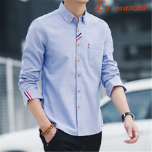Новое поступление Весенняя рубашка больших размеров с длинными рукавами в Корейском стиле тонкие Гавайские ковбойские мужские рубашки