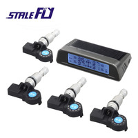 Solar Power Technology Car TPMS Wireless Tire Pressure Monitoring System with 4 Internal Sensors F35