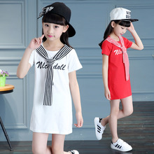 Elegant Girls Long T-Shirts with Striped Tie Front Clothing For Teenage Girl Summer Clothes 4 5 6 7 8 9 10 11 12 13 Year Old