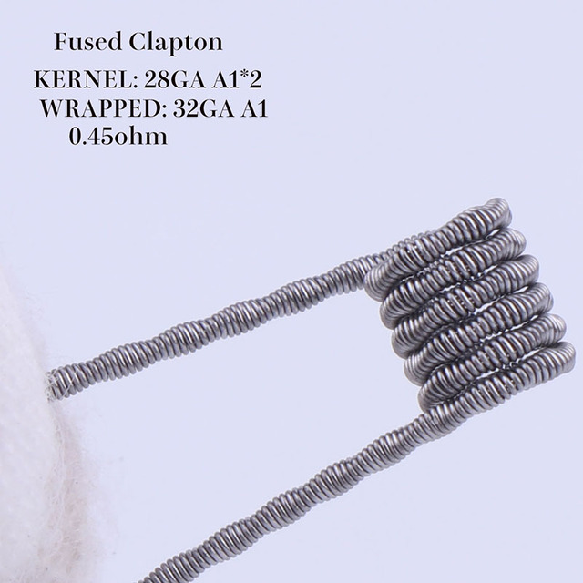 XFKM 50/100 pcs twisted  Fused Hive clapton coils premade wrap Alien Mix twisted Quad Tiger Heating Resistance rda coil 6