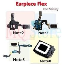 For Samsung Galaxy Note 2 3 4 5 7 8 Earpiece Speaker Earphone Ear Piece Headphone Jack Audio Proximity Sensor Flex Cable Parts