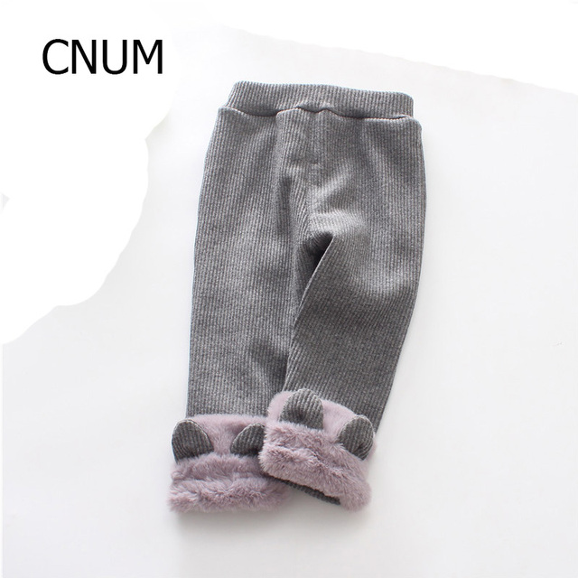 bc1462b10069f0 CNUM Baby Girls Leggings Fleece Cotton Pants Winter Infant Girls Pantyhose  Stocking Black Winter Toddler Classic Leggings Pants