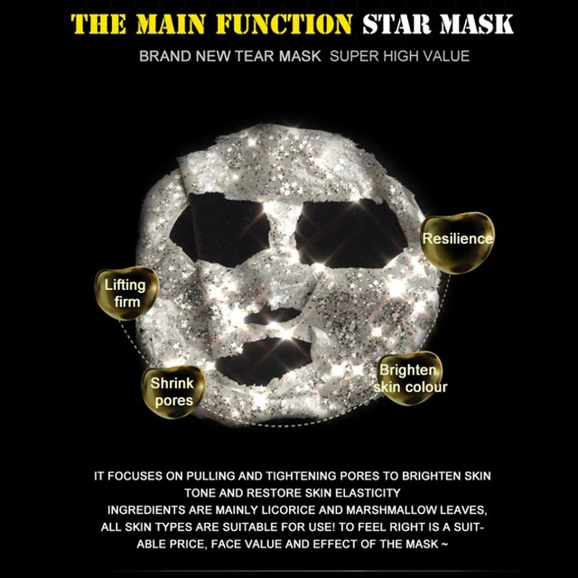 STAR MASK Glitter Gold Peel off Black Face Mask From Black Dots Blackhead Remover Korean Facial Masks Face Skin Care 2