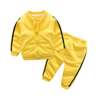 abf1cc1d2 ... niñas conjuntos de ropa para primavera otoño chaqueta deportiva +  Pantalones 2 piezas chándal conjunto bebé cálido trajes. BibiCola Boys  Girls Clothing ...