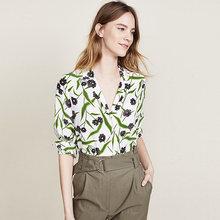 Женская блузка с отложным воротником и длинными рукавами Повседневная