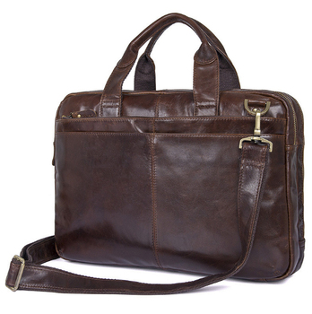 new  arrived  Genuine Leather Oil wax skin business handbag  imported leather men bag  14 inch  Briefcases Briefcases