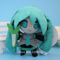 Retail VOCALOID Hatsune Miku 10CM Mini Smile Miku Soft Plush Toy Stuffed Animal Doll Kids Gift 1pc