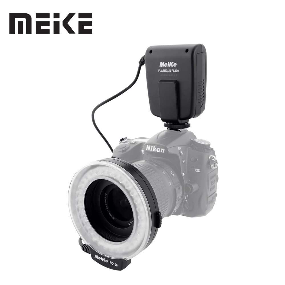 Meike FC-100 Macro Ring Flash/Lumière pour Canon EOS 600D 50D 60D 650D 700D 70D 6D 450D 7D 550D 5D Mark II III 1100D T5i T4i T3i T3