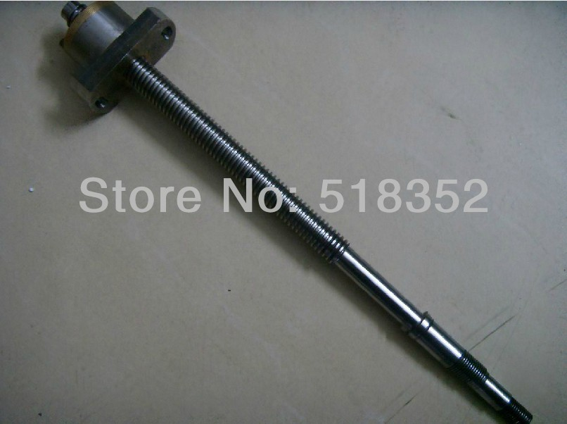 ФОТО L380mm Screw Rod with Feed Screw Nut  M18x 3mm Tooth Pitch Used for Ningbo Zhongyuan Wire EDM Machines, EDM Spare Parts