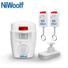 NiWoolf Домашняя безопасность PIR MP оповещение инфракрасный датчик Противоугонный детектор движения сигнализация монитор Беспроводная сигнализация