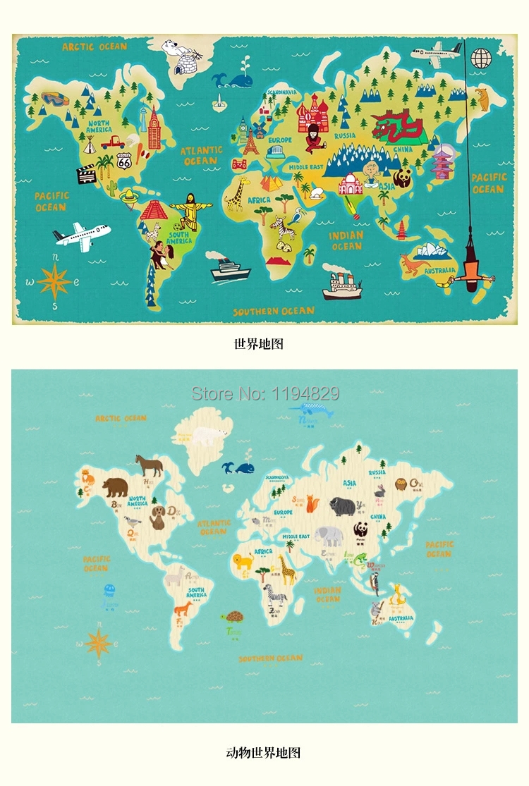 Cartoon style world map showing household wiring diagram kenmore cartoon children style world map large mural wallpaper tv sofa cartoon children style world map large gumiabroncs Image collections