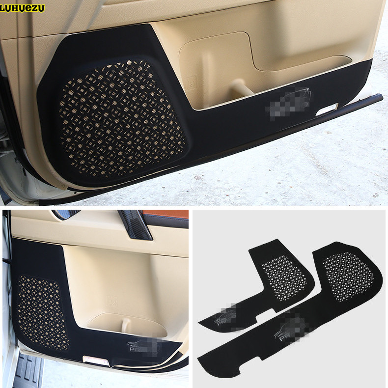 Luhuezu 4pcs Leather Car Door anti Kicking Armrest Pad Cover For Toyota Land Cruiser Prado LC150 FJ150 2010 2018 Accessories