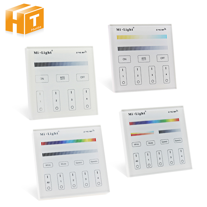 Amicable Mi Light Smart Led Touch Panel Controller For Rgbw / Rgb+cct / Single Color / Dual White Led Bulb Led Strip