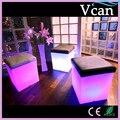 Cores RGB Mudança LEVOU Luz Brilhante Bar Fezes Com Almofada VC-A3838 para interior ao ar livre do jardim como assento