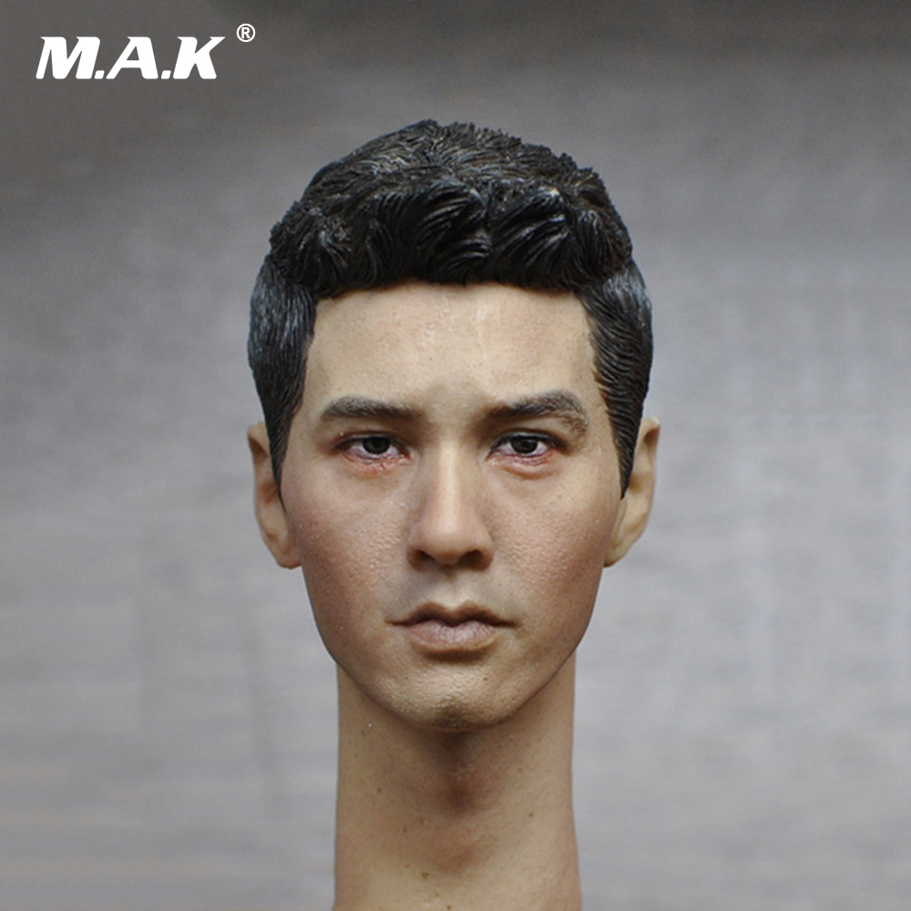 Asian Mens Head Sculpt 1/6 Scale for 12 Inches Male Bodies Figures Dolls 1 4 scale 18 inches male movable bodies collectable figures for 1 4 mens head sculpt