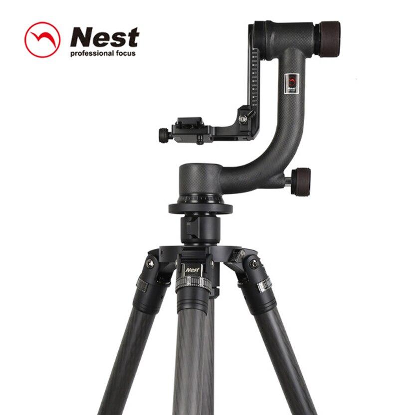 Nest NT-5303CK carbon fiber tripod cantilever pan / tilt SLR camera camera bird long camera,Free shipping