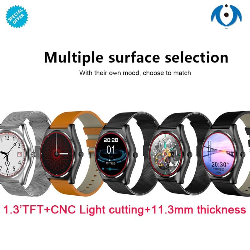 Nouvelle montre intelligente hommes pour IOS Android smartwatch support facebook whatsapp à distance Camer remplacer sangle montre PK KW88 KW28 N3