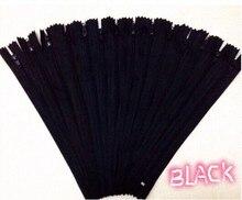 30 unids negro Nylon bobina cremalleras Tailor herramientas de costura Craft 9 pulgadas cayó