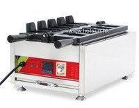 Commercial Non Stick 110V 220V Digital Electric 5pcs Ice Cream Taiyaki Maker Iron Machine