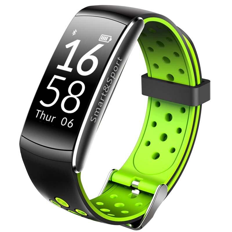 Q8 смарт-браслет сердечного ритма Мониторы Фитнес трекер <font><b>Bluetooth</b></font> браслет IP68 Водонепроницаемый Мониторы Спорт smartband для iOS и Android