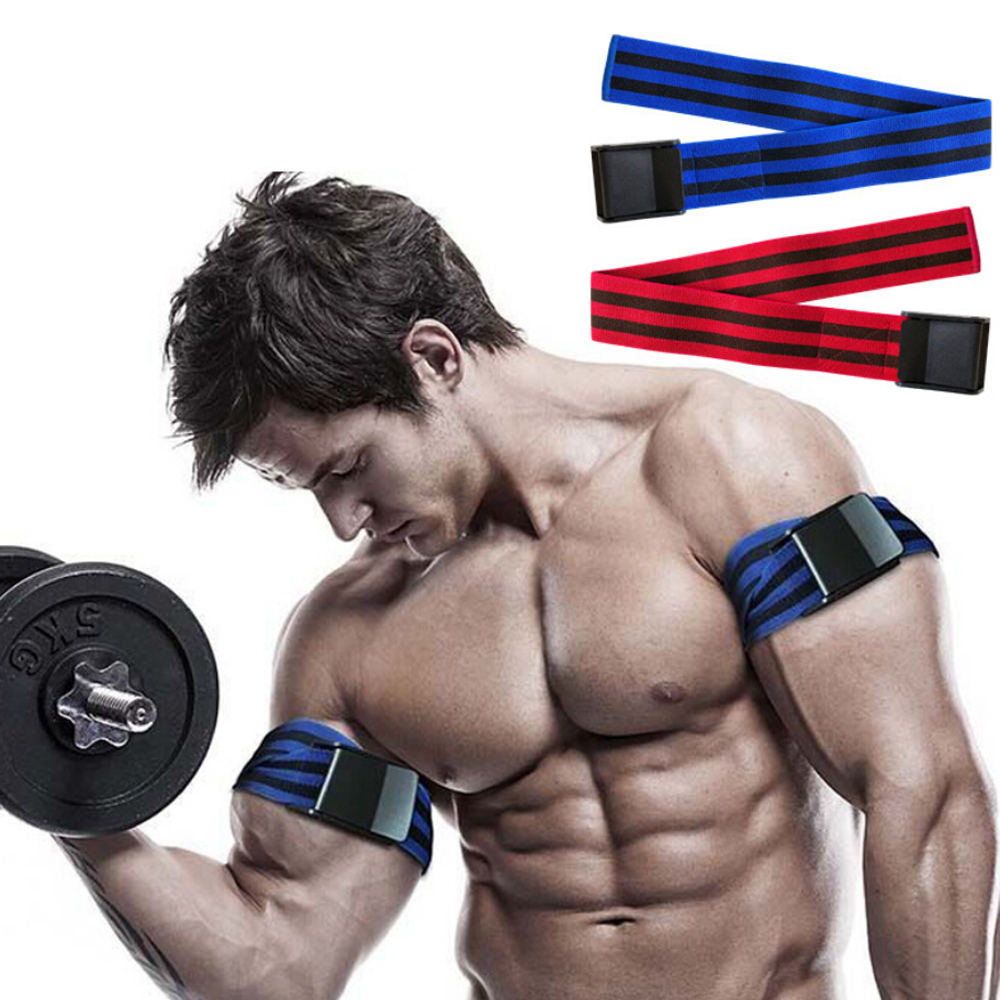 1 Pair BFR Training Fitness Gym Bands Blood Flow Restriction Occlusion Bandage Sports Exercise Bodybuilding Biceps Bands Belts belt