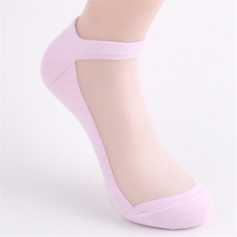 10 Pairs/Lot New Designer Silk Lace Socks for Women Summer Ultrathin Transparent Short Socks Female Elatic Black Ankle Socks