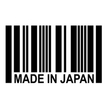 Made In JAPAN Barcode Sticker -JDM Reflective Vinyl Decal Sticker Great For Your Car Truck Window Bumper