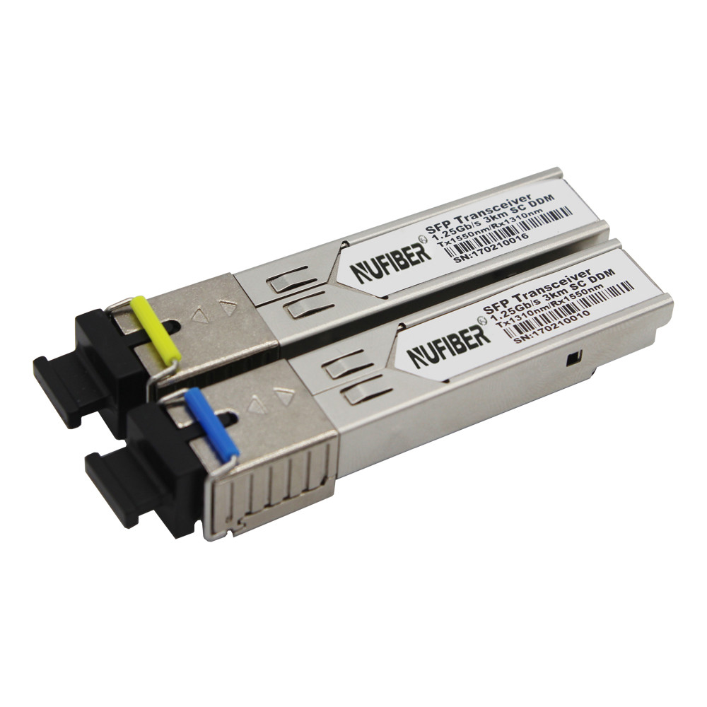 1.25Gb/s SFP Transceiver single fiber singlemode 3km 1310nm/1550nm SC DDM1.25Gb/s SFP Transceiver single fiber singlemode 3km 1310nm/1550nm SC DDM