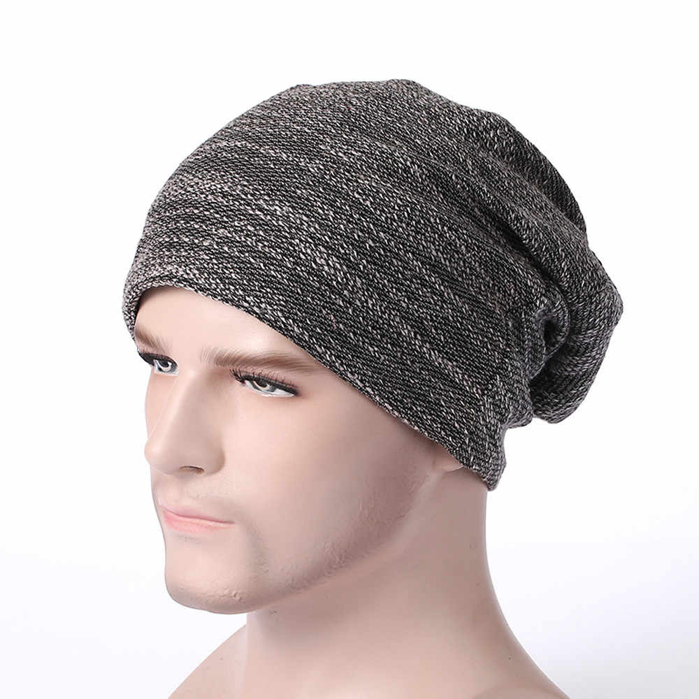 22afdfc64d0e3 Detail Feedback Questions about Men Women Baggy Warm Crochet Winter Wool  Knit Ski Beanie Skull Slouchy Caps Hat New hemp knit hat pile cap ear  protector on ...
