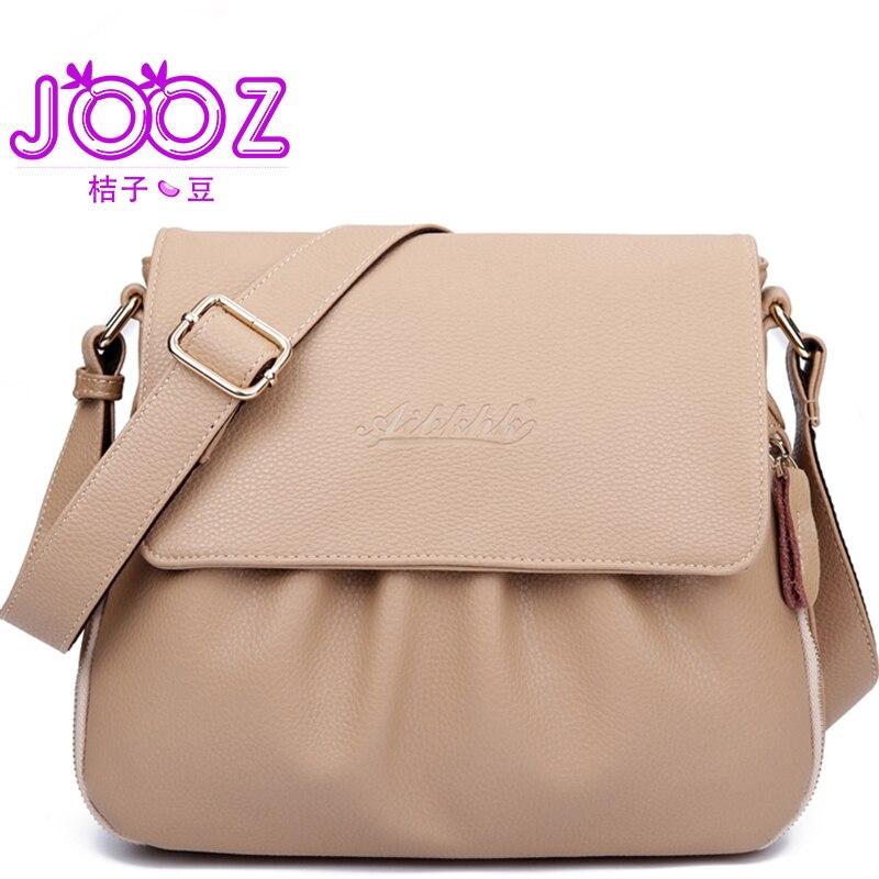 JOOZ Brand Women 100% Genuine Leather Shoulder Women Bag sac a main femme Luxury Crossbody Women Bags Designer Flap Messenger